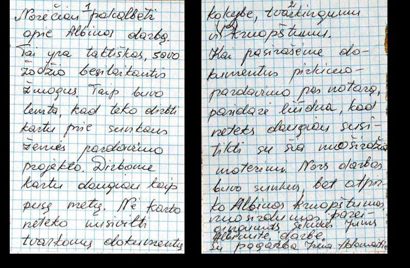 Klientės laiškas
