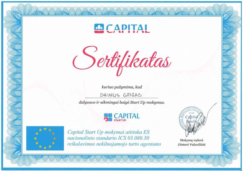 start up capital template - dainius grigas rekomendacijos capital