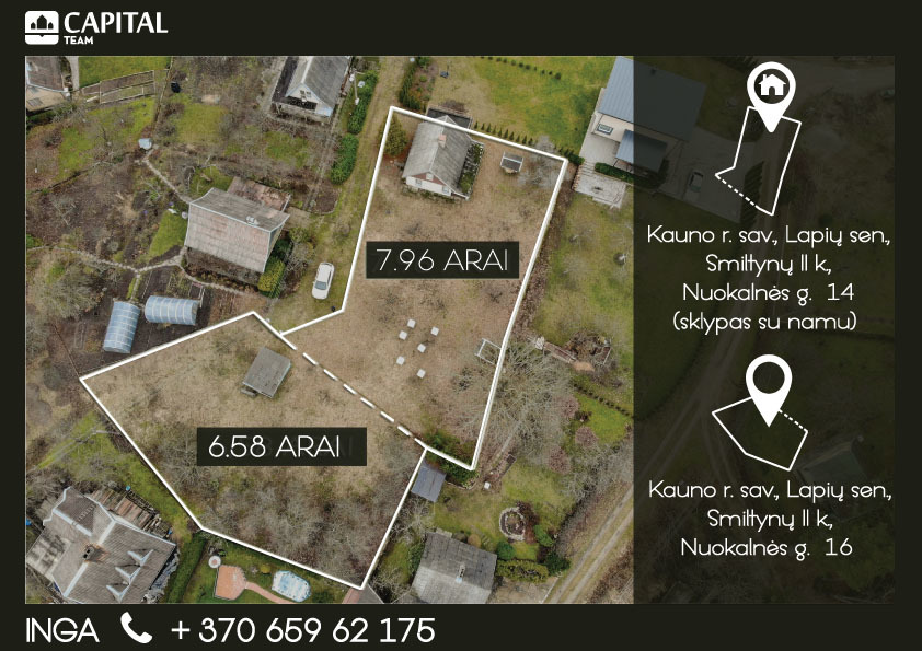 Parduodamas sodo namas Nuokalnės g.  14, Smiltynų II k., 66.42 kv.m...